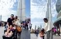 Vợ chồng Đoan Trang cùng con gái đi du lịch ở Dubai