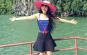 Siêu mẫu Jessica Minh Anh thích thú khám phá vịnh Hạ Long