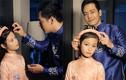MC Phan Anh ân cần chăm sóc con gái làm mẫu nhí