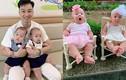 Vợ Thành Trung mát tay chăm cặp song sinh ngày càng bụ bẫm