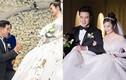 MC Thùy Linh được chồng kém tuổi quỳ gối trao nhẫn trong đám cưới