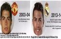 Khuôn mặt Ronaldo biến đổi khó tin sau 10 năm