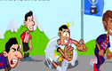 """Phim hoạt hình vui nhộn: Real Madrid bị Barcelona """"vượt mặt"""""""