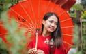 Hotgirl Sài Gòn xúng xính áo dài đến check-in 'đường mai vàng'
