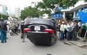 Tai nạn hy hữu, ô tô chổng 4 bánh lên trời