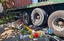 Xe đầu kéo container húc văng 5 xe máy, nhiều người thoát chết