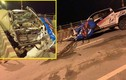 Xe bán tải Chevrolet Colorado biến dạng, nát bươm trên cầu Vĩnh Tuy, 1 người chết
