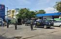 Cảnh sát vũ trang phong toả cây xăng ở Gò Vấp - TP HCM