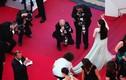Lý Nhã Kỳ có người chỉnh váy trên thảm đỏ Cannes