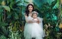 Trang Trần diện váy cô dâu hạnh phúc bên con gái cưng