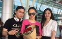 Hoa hậu Hương Giang mặc giản dị, lặng lẽ về nước dự sự kiện