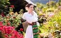 Lý Nhã Kỳ diện trang phục Romania, đẹp hút mắt giữa vườn hoa