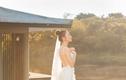 Đàm Thu Trang diện váy cô dâu, khoe lưng trần gợi cảm