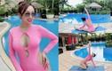 Mang thai 6 tháng, vợ Chi Bảo sở hữu vóc dáng vạn người mê