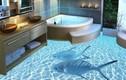 Sàn nhà 3D cực độc cho phòng tắm ấn tượng