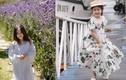 Gái út Hoa hậu Hà Kiều Anh ăn mặc nữ tính, nhẹ nhàng tựa nàng thơ