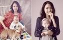 Hoa hậu Trương Tử Lâm cùng con gái rạng rỡ trên tạp chí