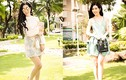 Hoa hậu Điện ảnh 2015 Thanh Mai đẹp ngọt ngào trên phố