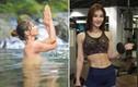 Thân hình tuyệt mỹ của cô giáo thả rông dạy Yoga dưới nước