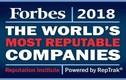 Bất ngờ 10 công ty danh tiếng nhất thế giới năm 2018