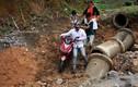 Lai Châu mưa lớn, đường tỉnh lộ 132 sạt lở không thể di chuyển