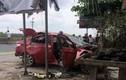Kinh hoàng ô tô Huyndai Accent nổ tan tành trong đêm ở Hải Phòng
