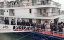 Ảnh: Du thuyền đưa đoàn lãnh đạo cấp cao Triều Tiên tham quan Vịnh Hạ Long