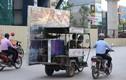 Cảnh hãi hùng xe chở hàng cồng kềnh nguy hiểm trên phố Hà Nội