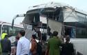 Hiện trường tai nạn xe cứu hỏa tông xe khách ở Hà Nội