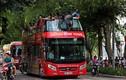 Lần đầu tiên người Hà Nội thích thú trải nghiệm xe buýt 2 tầng
