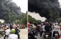 Cháy khủng khiếp xưởng sơn trên Đại lộ Thăng Long, Hà Nội