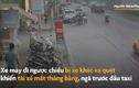 Video: Kinh hãi tài xế xe máy đi ngược chiều ngã trước đầu ôtô sau va chạm