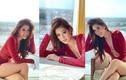Khánh Vân diện váy xẻ ngực sâu táo bạo tại Miss Universe