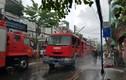 Cháy xưởng giày da ở Sài Gòn, khói đen bao trùm cả khu phố