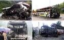 Ám ảnh hiện trường loạt vụ cháy nổ xe khách thảm khốc