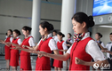 Xem tiếp viên hàng không múa võ trên máy bay