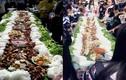 Học sinh Bắc Giang ăn tất niên bằng mâm bún chả khổng lồ