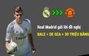 Chuyển nhượng bóng đá mới nhất: Bale = De Gea + 30 triệu?