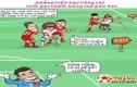 Dân mạng thích thú tranh hí họa Olympic Việt Nam trước trận đấu với Bahrain