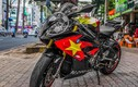 Bộ đôi môtô BMW S1000RR và Exciter cổ vũ U23 Việt Nam