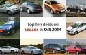 Những xe sedan giảm giá mạnh nhất trong tháng 10