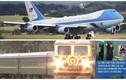 Cận cảnh Air Force One và tàu bọc thép của Mỹ - Triều xuất hiện tại VN