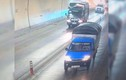 Hãi hùng xe khách phóng nhanh, vượt ẩu trong hầm Hải Vân