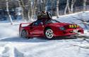 """Dân chơi Nhật lắp xích vào siêu xe Ferrari F40 """"nghịch tuyết"""""""