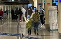 Hành khách mặc áo mưa, bảo hộ kín mít khi đi máy bay tại Tân Sơn Nhất