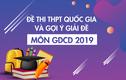 Đề thi môn GDCD THPT quốc gia 2019