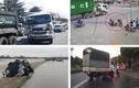 Video: Đi vào khúc cua cùng xe container, cặp đôi thoát chết trong gang tấc