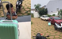 Giận dỗi bỏ nhà đi, cậu nhóc mếu máo kéo vali về nhà ngoại