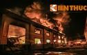 Hiện trường đổ sập sau vụ cháy kho sơn ở Bình Dương