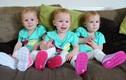 Ngắm 3 em bé thiên thần giống nhau như 3 giọt nước